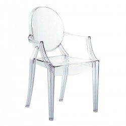 LOT DE 4 FAUTEUILS LOUIS GHOST KARTELL                    (exclusivement en magasin)