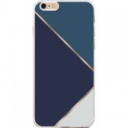 COQUE IPHONE 7/7S TRIANGLES BLEUS
