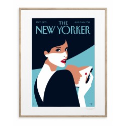 AFFICHE THE NEW YORKER PAGE TURNER