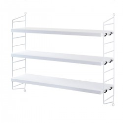 ETAGERE STRING POCKET BLANC