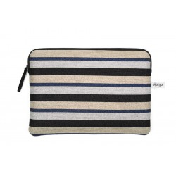 "HOUSSE ORDINATEUR 13"" LUREX STRIPES"