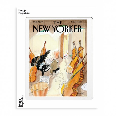 AFFICHE THE NEW YORKER PLAYING PIANO WITH CELLOS