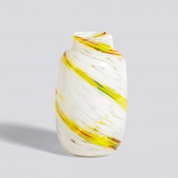 VASE SPLASH M YELLOW HAY