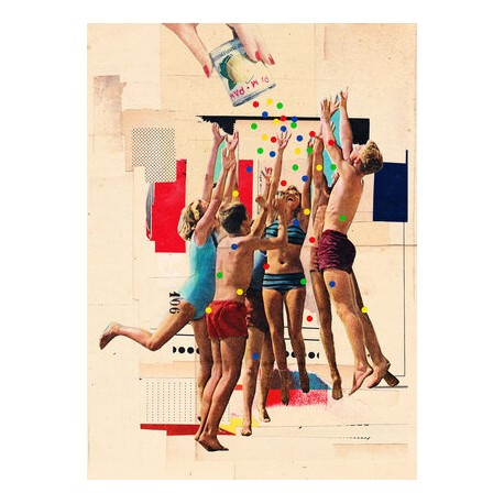 AFFICHE ITCHI COLLAGES HANG TIME