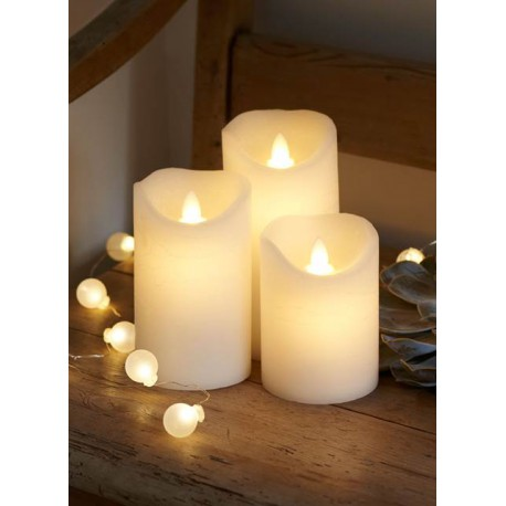 LOT DE 3 BOUGIES LED