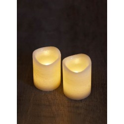 LOT DE 2 BOUGIES LED TENNA MINI
