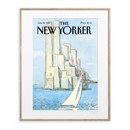 AFFICHE THE NEW YORKER VOILIER