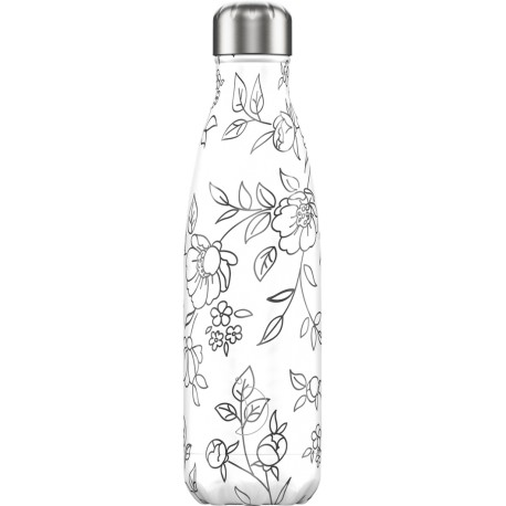 BOUTEILLE ISOTHERME FLEURS LIGNES CHILLY'S 500 ML