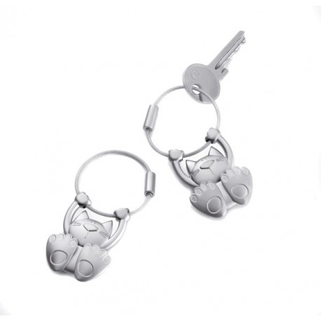 PORTE CLES CHAT TABBY